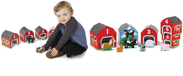 Melissa & Doug Nesting and Sorting Barns and Animals - Jouets LOL Toys