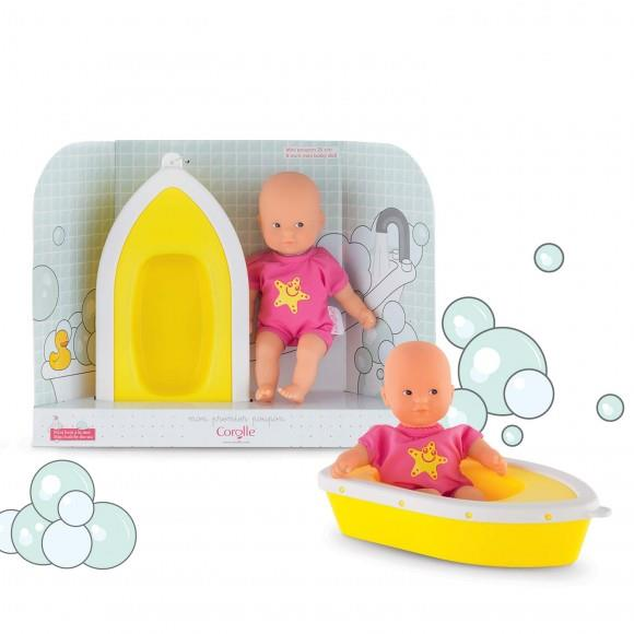 Corolle Mini Bath Plouf Doll and Boat - Jouets LOL Toys