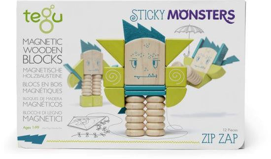 Tegu Sticky Monsters Zip-Zap, 12 pieces - Jouets LOL Toys