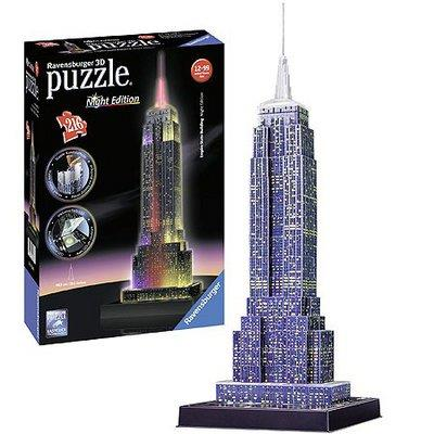 Ravensburger 3D Puzzle Empire State Night Edition - Jouets LOL Toys