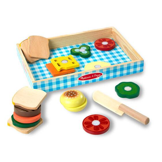 Melissa & Doug Wooden Sandwich Making Set - Jouets LOL Toys
