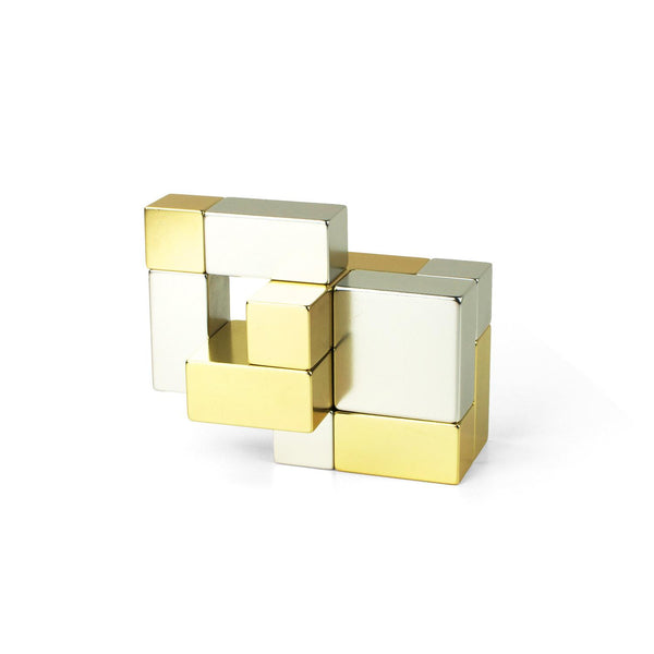 Playable Art Metal Cube (Gold/Silver) - Jouets LOL Toys