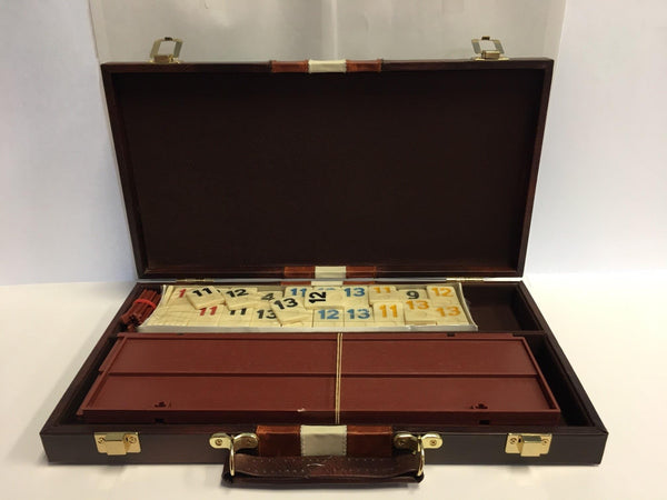"14"" Rummy Game Set Tan Vinyl - Jouets LOL Toys"