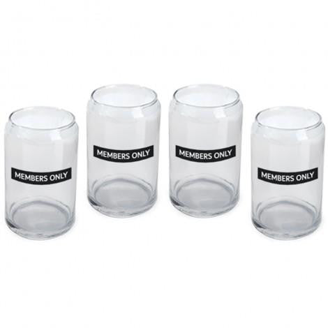 Members Only Beer Can Glasses - Jouets LOL Toys