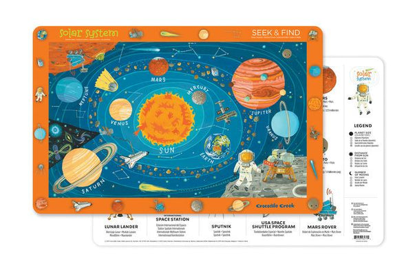 Crocodile Creek Solar System Placemat - Jouets LOL Toys