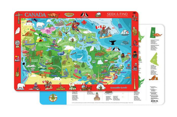 Crocodile Creek Canada Map Placemat - Jouets LOL Toys