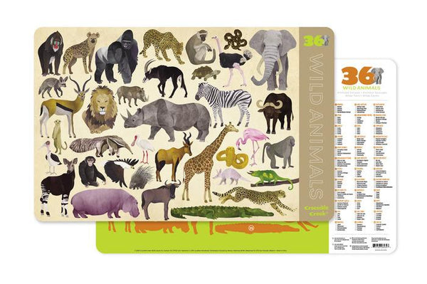 Crocodile Creek Wild Animals Placemat - Jouets LOL Toys