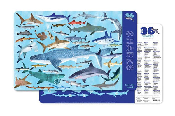 Crocodile Creek Sharks Placemat - Jouets LOL Toys