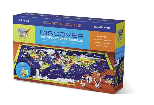 Crocodile Creek Discover the World Puzzle - Jouets LOL Toys