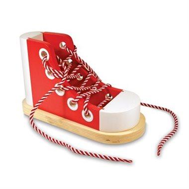 Wooden Lacing Shoe - Jouets LOL Toys
