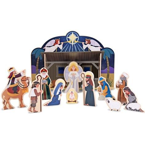 Melissa & Doug Wooden Nativity Set - Jouets LOL Toys