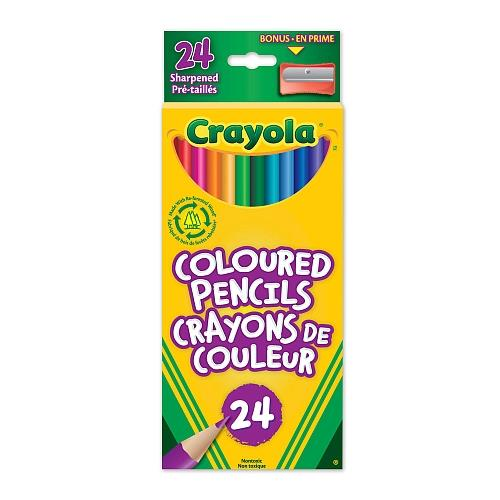 Crayola Coloured Pencils 24 with Sharpener - Jouets LOL Toys