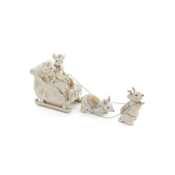 Mouse Sled Figurine (Set of 3) - Jouets LOL Toys
