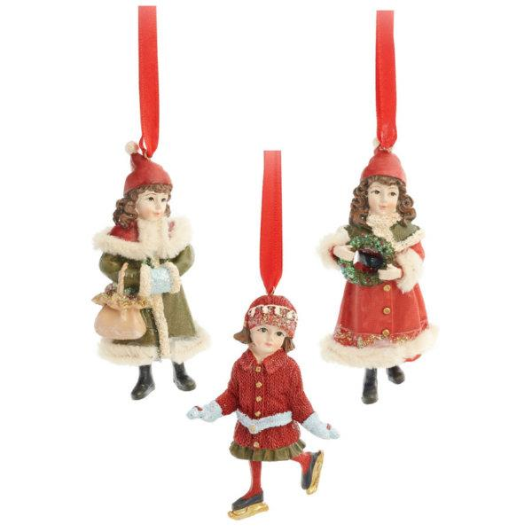 Christmas Ornament Girls (Set of 3) - Jouets LOL Toys
