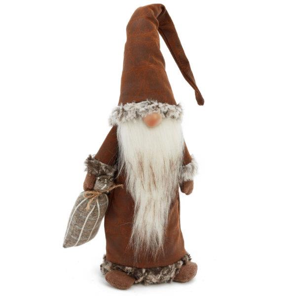 Santa Gnome Plush Figurine with Bag (Brown) - Jouets LOL Toys