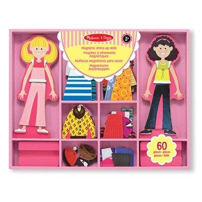 Melissa & Doug Magnetic Dress Up Dolls Abby and Emma - Jouets LOL Toys