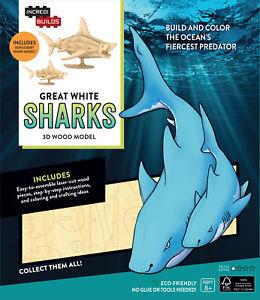 Incredibuilds Great White Shark 3D Model - Jouets LOL Toys