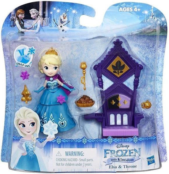 Disney Frozen Little Kingdom Elsa & Throne Mini Doll - Jouets LOL Toys