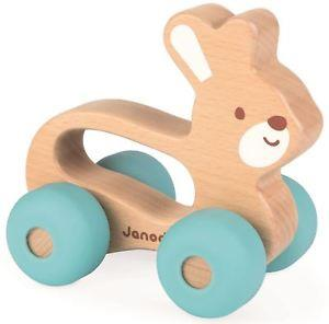 Janod Baby Pop Push Along Bunny - Jouets LOL Toys