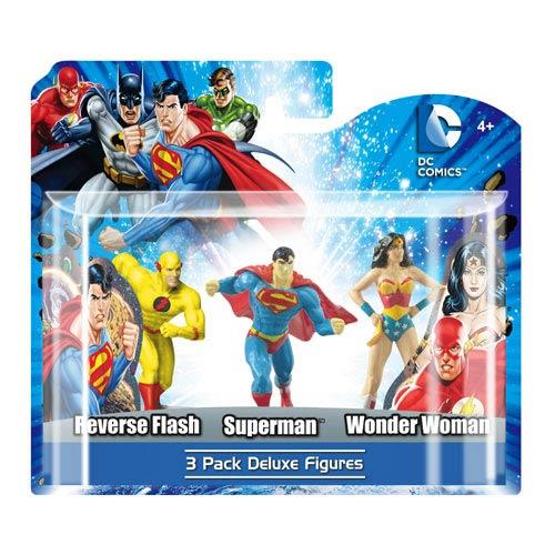 DC 3-Pack Figure Set (Superman, Wonder Woman, Reverse Flash)