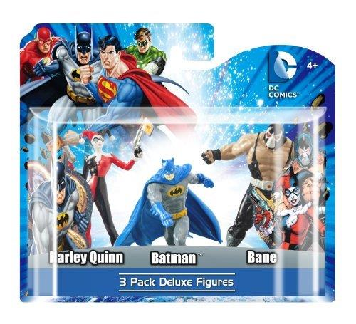 DC 3-Pack Figure Set (Harley Quinn, Batman, Bane) - Jouets LOL Toys