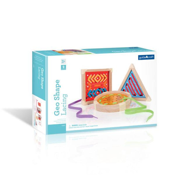 Guidecraft Geo Shape Lacing - Jouets LOL Toys
