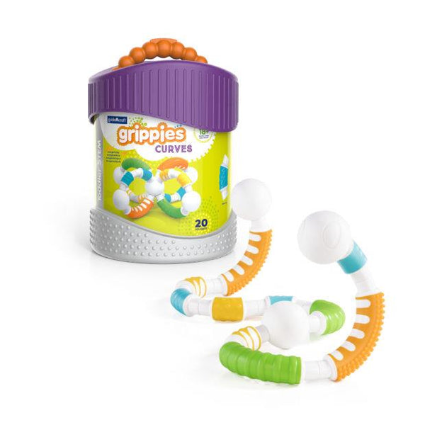 Guidecraft Grippies Curves - 20 Piece Set - Jouets LOL Toys