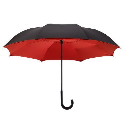 Galleria Reverse Close Umbrella Black/Red - Jouets LOL Toys