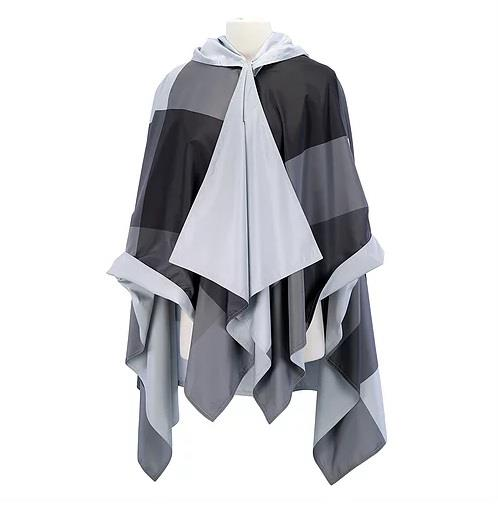 Galleria RainCape Grey Oversized Plaid - Jouets LOL Toys