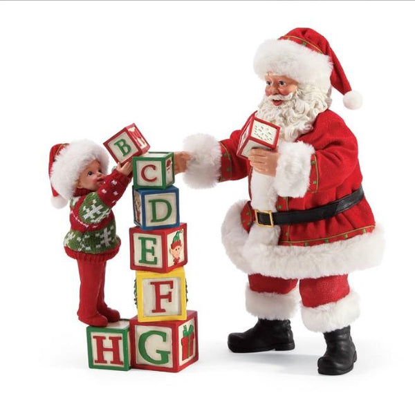 Enesco Building Blocks Santa Claus - Jouets LOL Toys