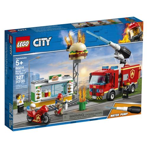 Lego City Burger Bar Fire Rescue - 60214 - Jouets LOL Toys