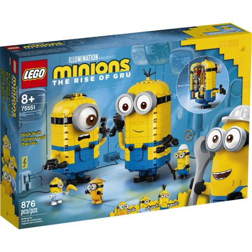 Lego Minions Brick-Built Minions and thei Lair - 75551 - Jouets LOL Toys