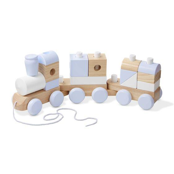 Melissa & Doug Jumbo Stacking Train (Neutral) - Jouets LOL Toys