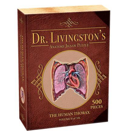 Dr. Livingston's Anatomy Jigsaw Puzzle The Human Thorax - Jouets LOL Toys