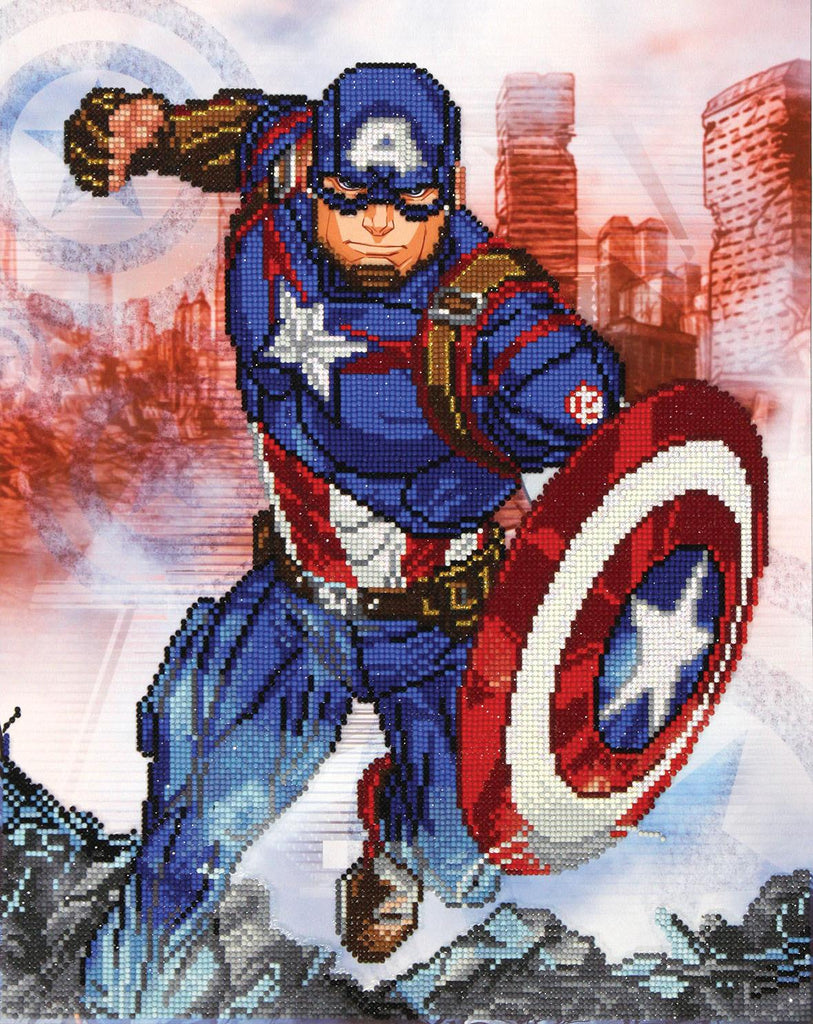 Disney Marvel Diamond Dotz Captain America In Action - Jouets LOL Toys