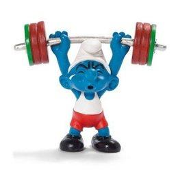 Smurfs Schleigh Figure Olympics Weightlifter - Jouets LOL Toys