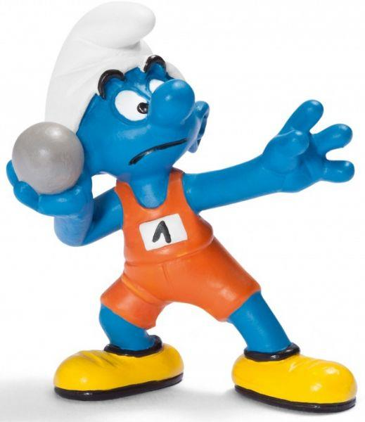 Smurfs Schleigh Figure Olympic Shot Put - Jouets LOL Toys