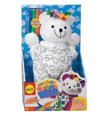 Alex Color and Cuddle Washable Plush Bear - Jouets LOL Toys