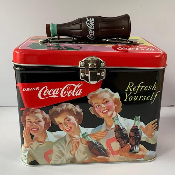 Coca-Cola Tin Square Lunch Box - Have a Coke, Refresh Yourself - Jouets LOL Toys