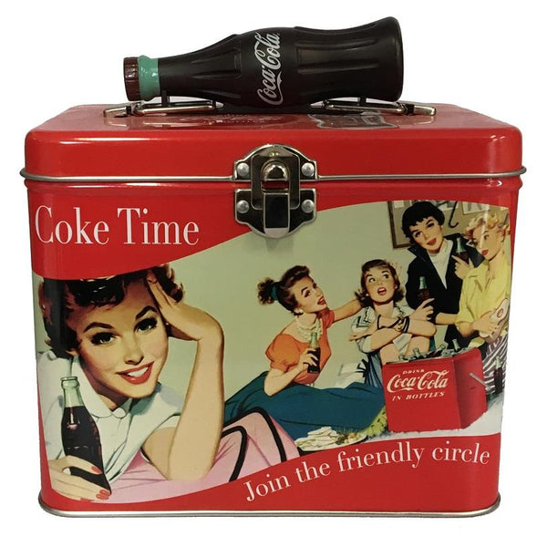 Coca-Cola Tin Square Lunch Box - Coke Time - Jouets LOL Toys