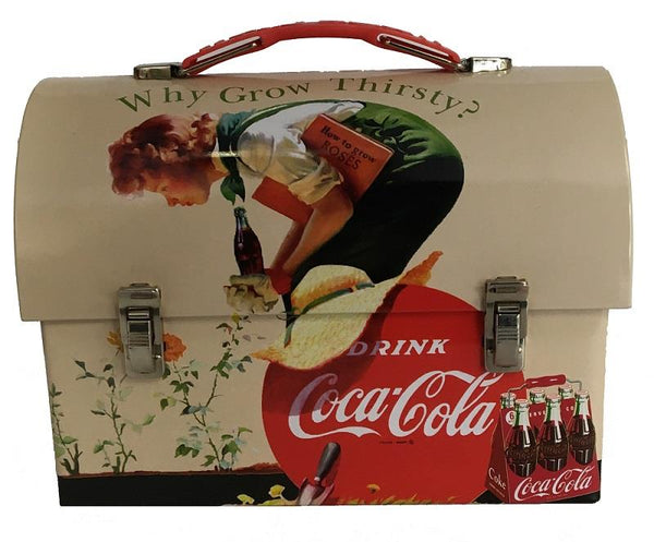 Coca-Cola Tin Dome Lunch Box - Why Grow Thirsty - Jouets LOL Toys