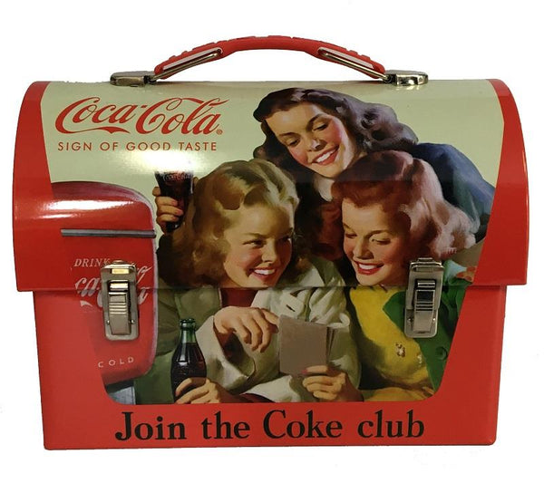 Coca-Cola Tin Dome Lunch Box - Join The Coke Club - Jouets LOL Toys