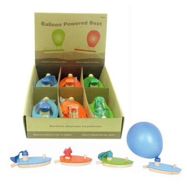 Boat Balloon Powered Green with Yellow Balloon - Jouets LOL Toys