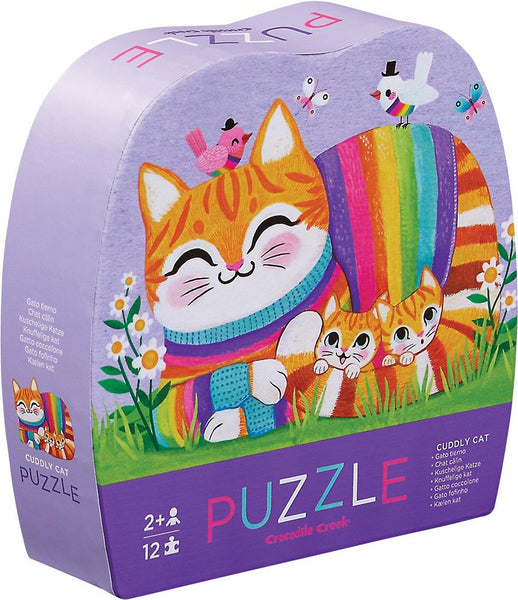 Crocodile Creek Mini Puzzle Cuddly Cat (12 pcs) - Jouets LOL Toys