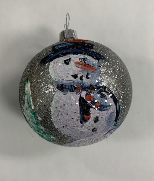 Ornament by Katerina Mertikas Snowman with Cardinal on Head - Jouets LOL Toys