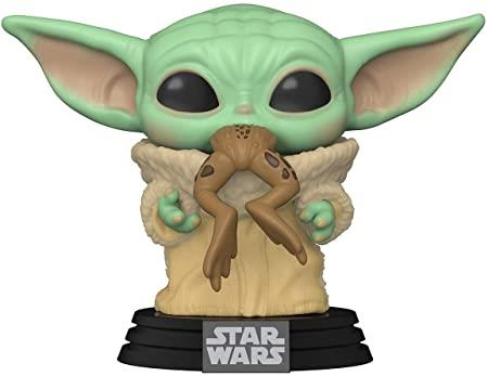 POP Disney: Star Wars The Mandalorian The Child (Baby Yoda) with Frog Bobblehead