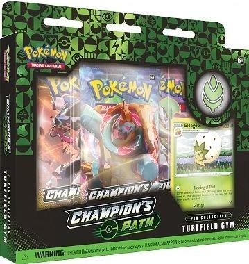 Pokemon Champion's Path Pin Collection Turffield Gym (Green) - Jouets LOL Toys