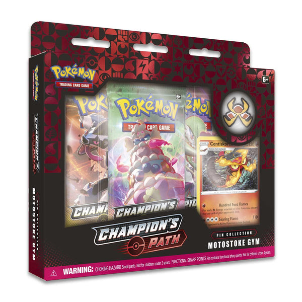 Pokemon Champion's Path Pin Collection Motostoke Gym (Red) - Jouets LOL Toys