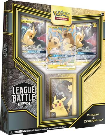 Pokemon Pikachu and Zekrom-GX League Battle Deck
