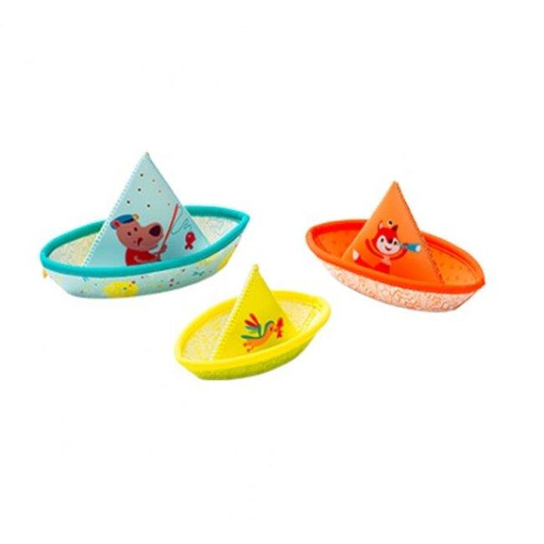 Lilliputiens Bath Fun 3 Little Boats - Jouets LOL Toys